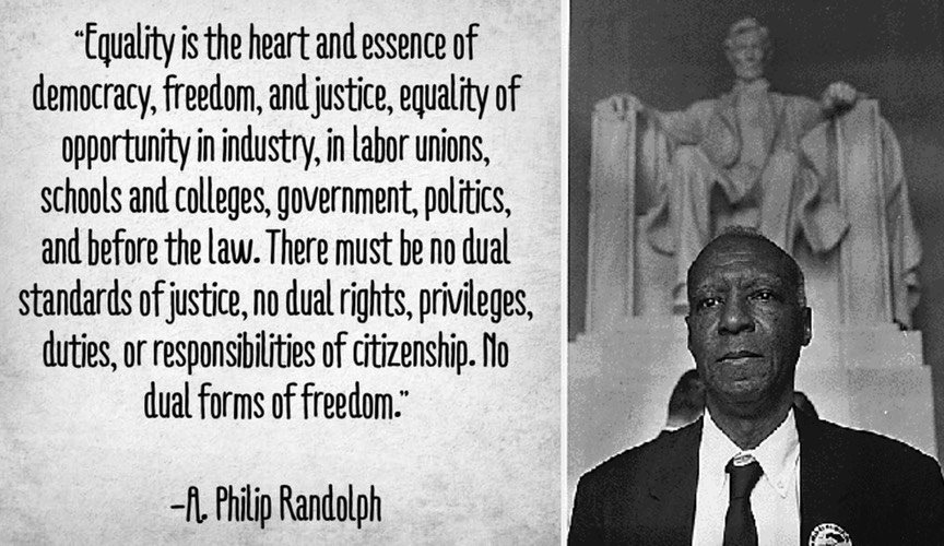 A Philip Randolph on Equality