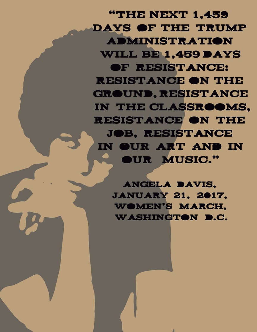 Angela Davis music eresistance quote