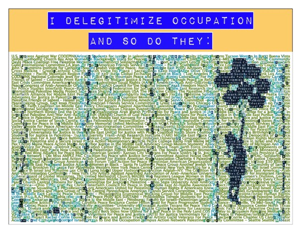 Michael Levin's Poster: I Deligitmize Occupation