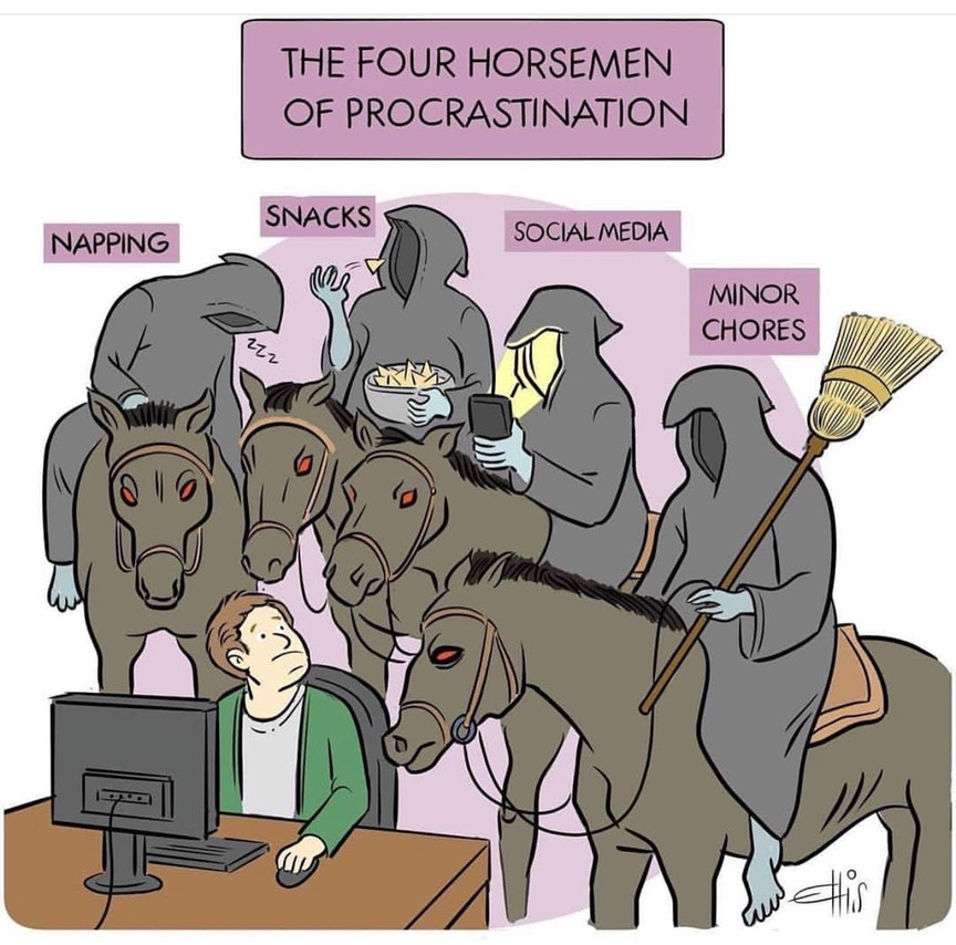 Four Horsemen of Provrasitination