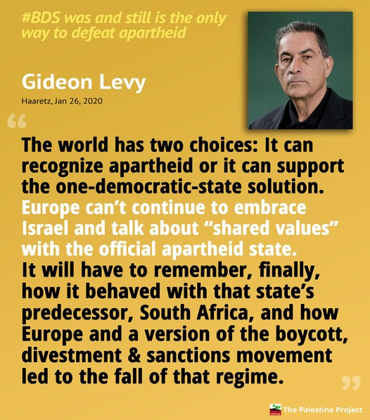 Gideon Levy on BDS