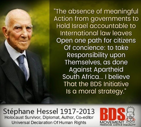 Hessel, BDS quote