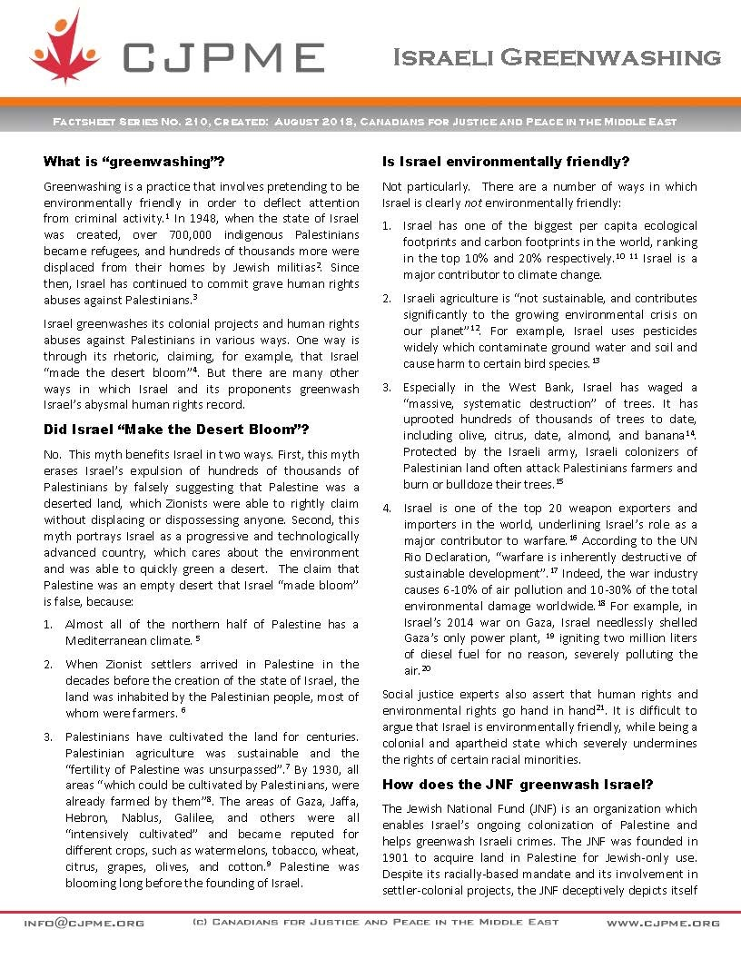 Israeli Greenwashing FAQ v02 Page 1