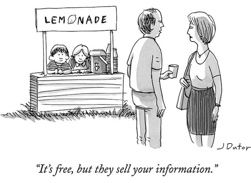 It's free, but they sell your information
