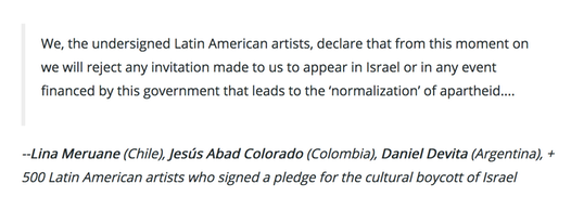 Latin American Artists BDS