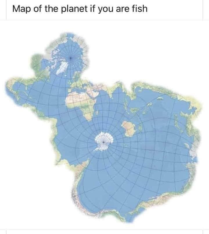 Map of the planet if you are fish