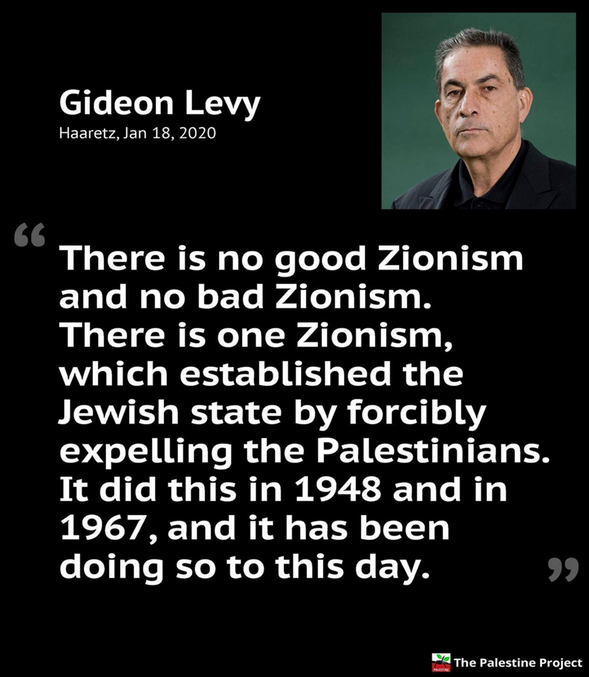 Gideon Levy on Zionism