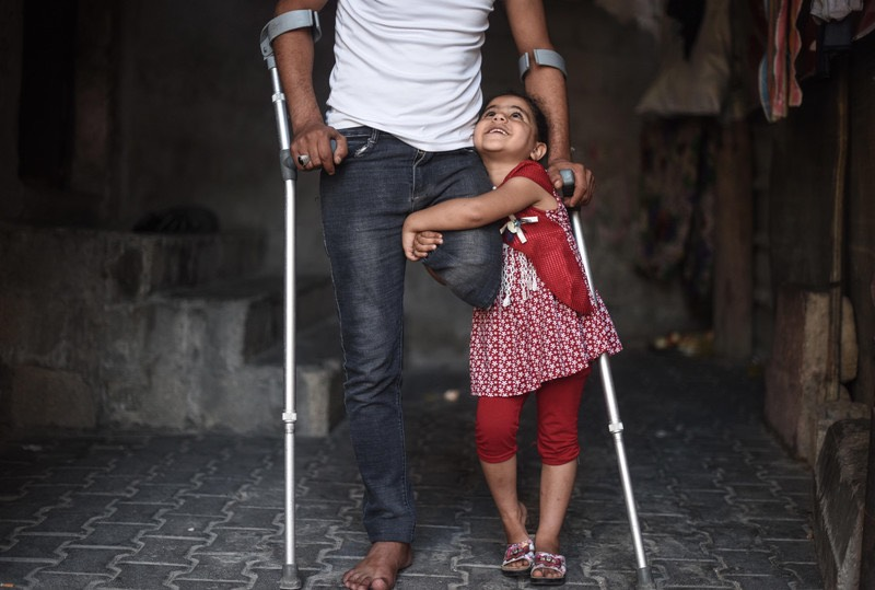 When Israel bombed disable Palestinians